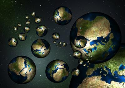 151030paralel globes - Vědci věří, že naváží kontakt s paralelním světem