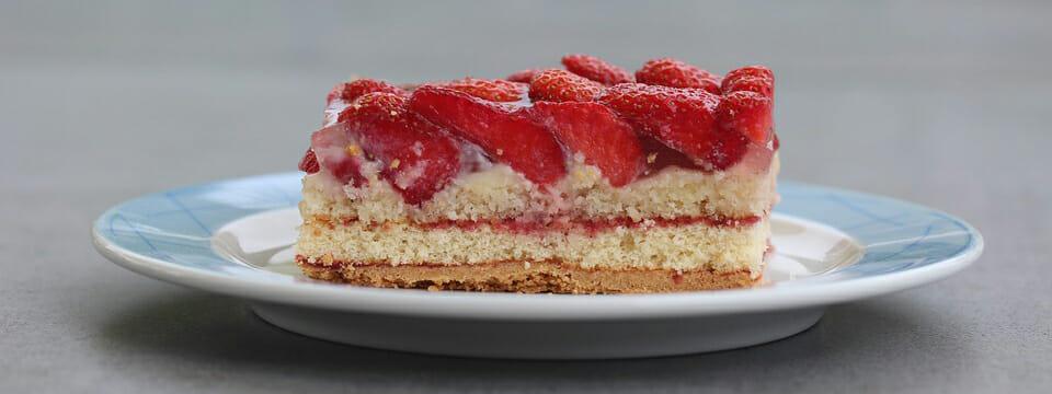 Jahodový dort.