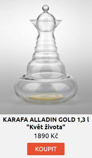 "KARAFA ALLADIN GOLD 1,3 l - ""Květ života"""