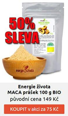 VÝPRODEJ: 50% SLEVA: MACA peruánská BIO 100 g za 75 Kč