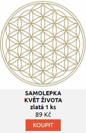 SAMOLEPKA KVĚT ŽIVOTA zlatá 1 ks