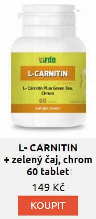 L- CARNITIN + zelený čaj, chrom 60 tablet
